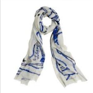 JCrew wool silk Voyager scarf